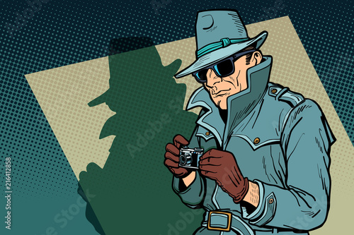 detective spy, shadow Wallpaper Mural