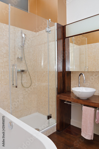 salle de bain moderne avec douche et baignoire - Buy this stock ...