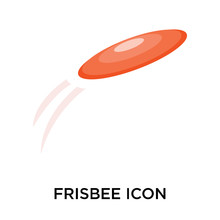 Frisbee Icons Isolated On Whit...
