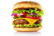Delicious Burger, Isolated On ...