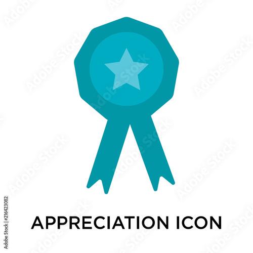 Fotografia  appreciation icon isolated on white background