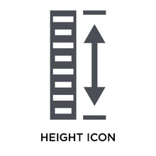 Height Icon Vector Sign And Symbol Isolated On White Background, Height Logo Concept