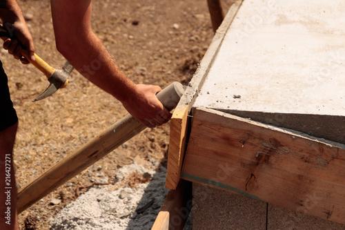 Décoffrage Béton   Construction Du0027une Terrasse