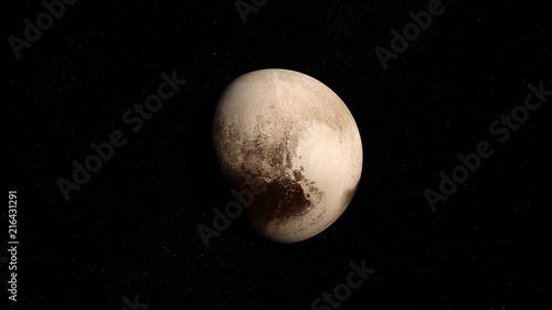 Planète Pluton Canvas