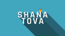 Rosh Hashanah Holiday Greeting With Honey Jar Icon And English Text