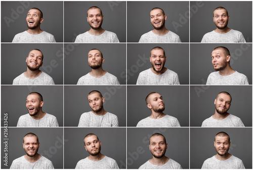 Fotografía  portraits of man with positive emotions