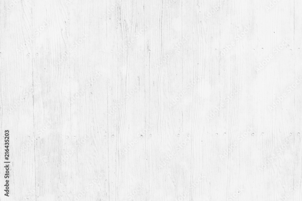 Fototapety, obrazy: Old white pine wood plank texture background natural with pattern for interior design.