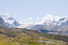 Zermatt, Stellisee, Bergsee, Adlerhorn, Findelgletscher, Wanderweg, Fluhalp, Blauherd, Spiegelung, Wallis, Walliser Berge, Alpen, Sommer, Schweiz