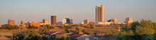 Golden Light Hits The Buildings And Landscape Of Amarillo Texas