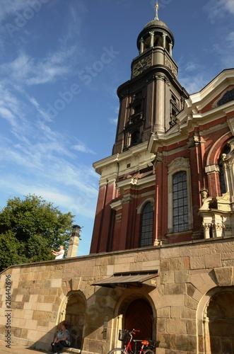 In de dag Noord Europa Église Saint-Michel de Hambourg (Allemagne)