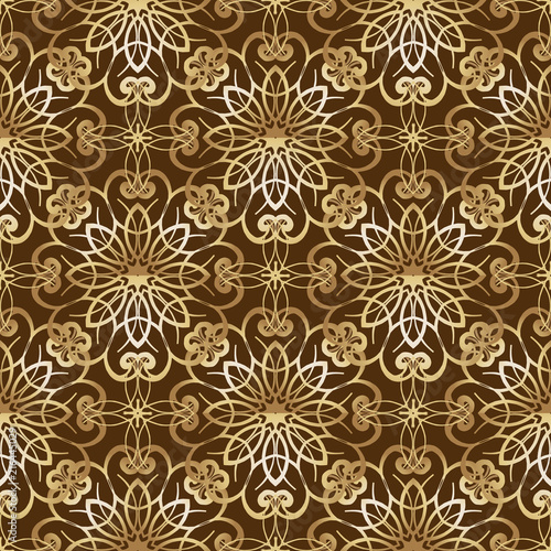 Poster Kunstmatig Golden vintage Luxury seamless patterns