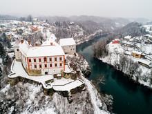 Aerial View Of Ozalj Medieval ...