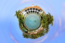 Tiny Planet Mansion Houses Sphere