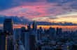 urban cityscape with sunrise sky and cloudscape