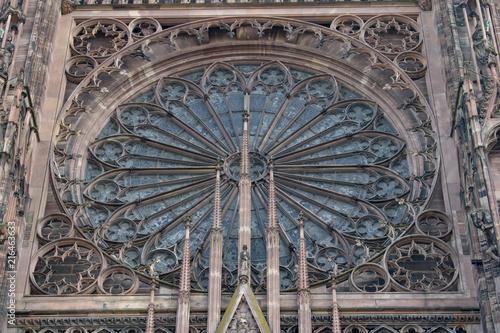 Fotografie, Obraz  gothic cathedral rose window