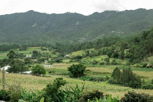 Foto op Plexiglas Pistache paisajes joyabaj Quiche Guatemala