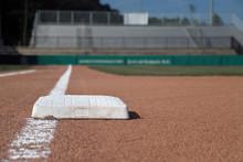 Baseball 1st Base Looking Home