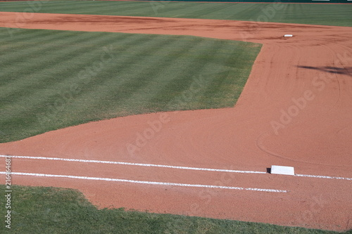 Photo  Baseball infield with 1st base