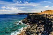 Ka Lae Or South Point On The Big Island Of Hawaii