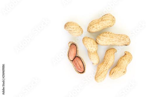 peanut pile on white background