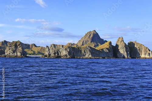 Foto op Canvas Eiland Beautiful view of Flores Island, Indonesia with dramatic blue sky.