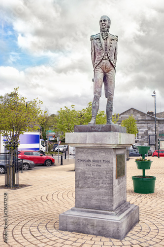 Sculpture of Theobald Wolfe Tone in a Bantry town Canvas Print