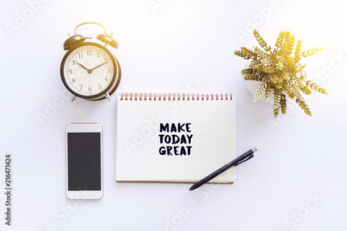 Poster Positive Typography Inspirational and motivation quote - Make today great