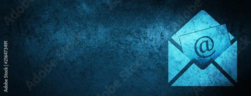 Fotografie, Obraz Newsletter email icon special blue banner background