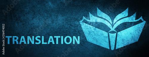 Fotografía  Translation special blue banner background