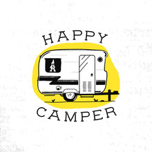 Mobile Recreation. Happy Campe...