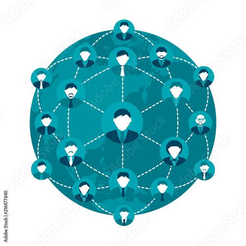 Obraz na płótnie people's global communication / social network / business network illustration
