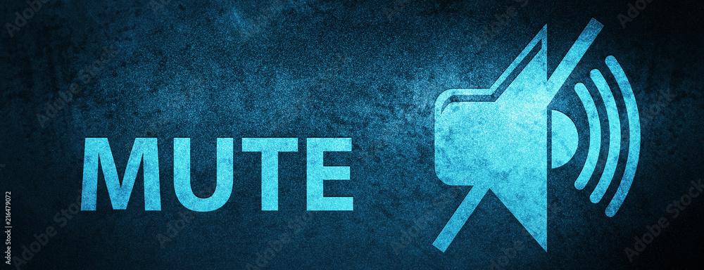 Fototapeta Mute special blue banner background