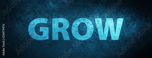 Foto Grow special blue banner background