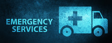 Emergency Services Special Blue Banner Background