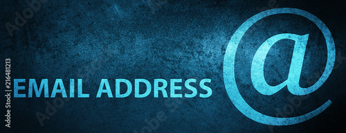 Photo Email address special blue banner background