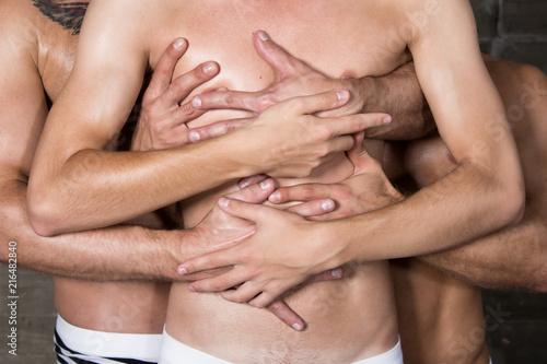 Love and hugs. Three sexy guys.