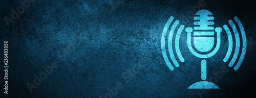 Fotografie, Obraz  Mic icon special blue banner background