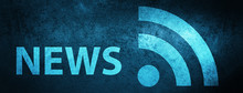 News (RSS Icon) Special Blue Banner Background