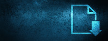 Download Document Icon Special Blue Banner Background