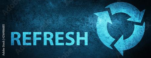 Carta da parati Refresh special blue banner background