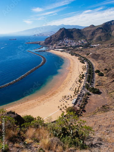 Deurstickers Canarische Eilanden Las Teresitas beach near San Andres, Tenerife, Canary Islands, Spain