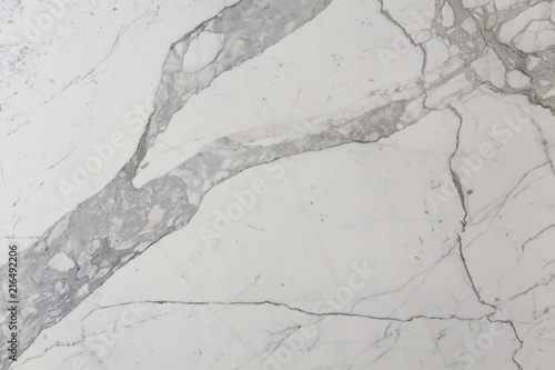 Canvas Prints Marble Clean marble texture in white colour.