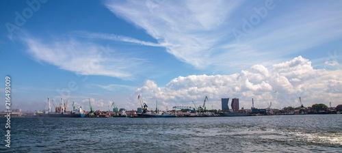 Fotobehang Poort Klaipeda Seaport