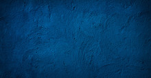 Abstract Grunge Decorative Relief Navy Blue Background