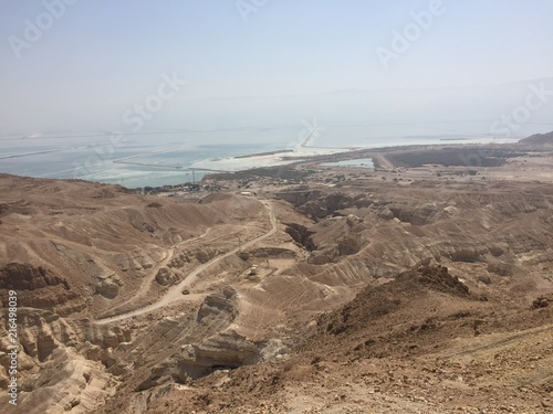 Papiers peints Cappuccino Rocky hills of the Negev desert. Panoramic landscape view of the Desert rock formation in the southern Israel.