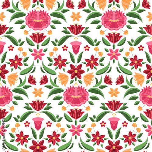 hungarian-folk-pattern-vector-seamless-kalocsa-floral-ethnic-ornament-slavic-eastern-european