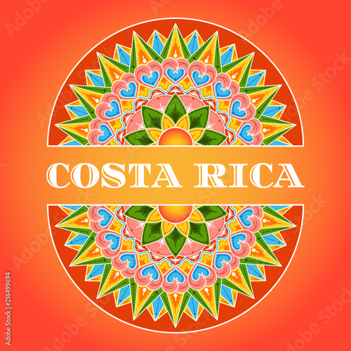 Photo Costa Rica illustration vector