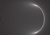 Fototapeta Do przedpokoju - Tunnel or wormhole. 3D tunnel grid. 3d tube corridor. Network cyber technology. Background abstract vector image