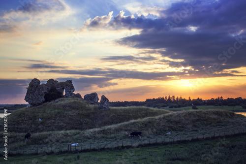 Foto op Plexiglas Europa Clonmacnoise Castle Ruins