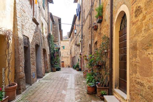 Fototapety, obrazy: Street of Pienza, Tuscany